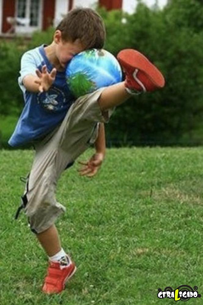 Imagens de crianças que não vieram ao mundo para praticar esportes3