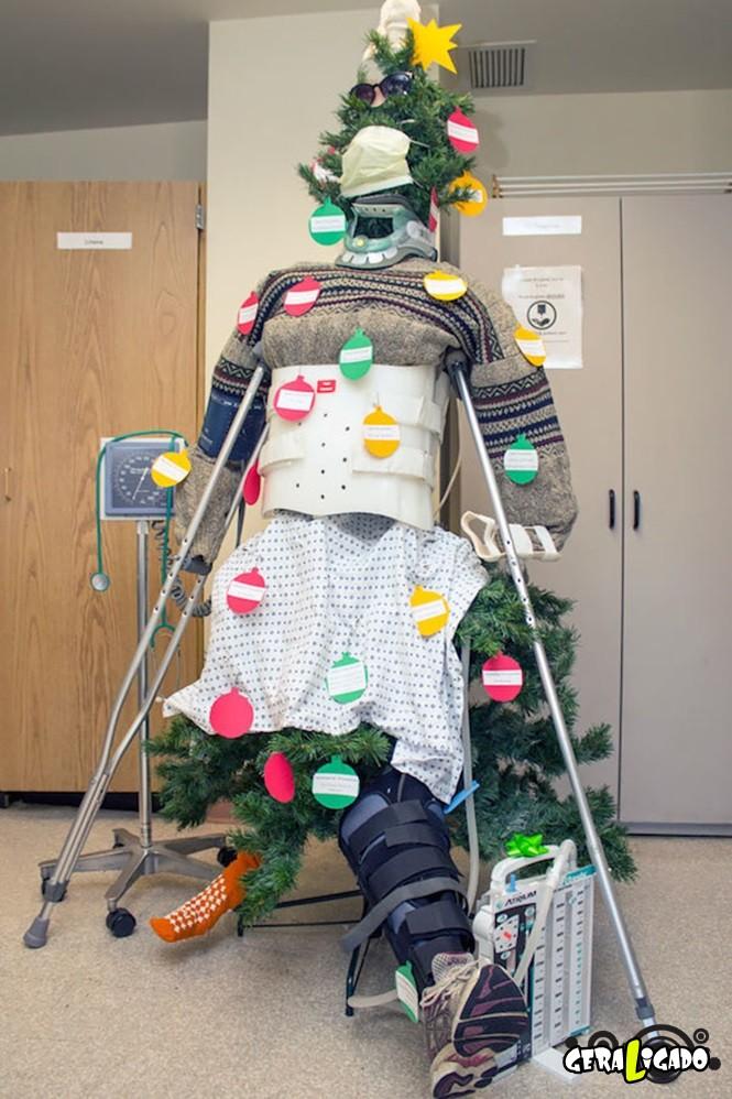 Como é o natal em alguns hospitais 4