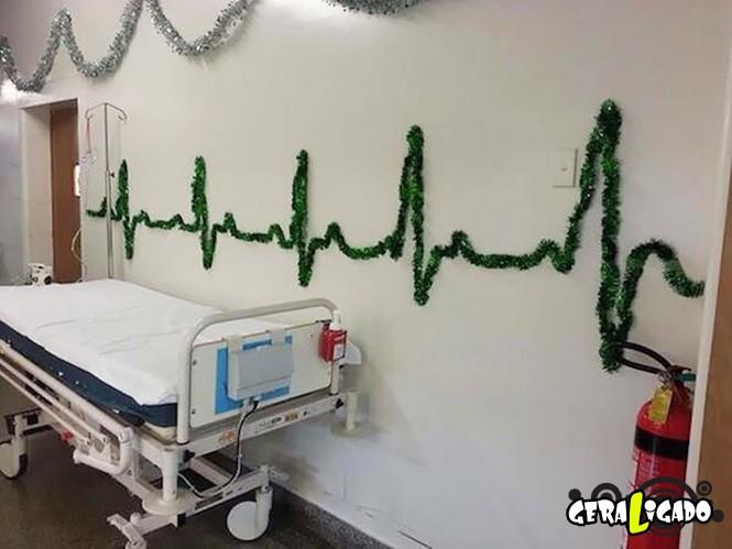 Como é o natal em alguns hospitais 9