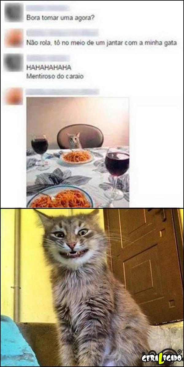1 Jantando com a minha gata