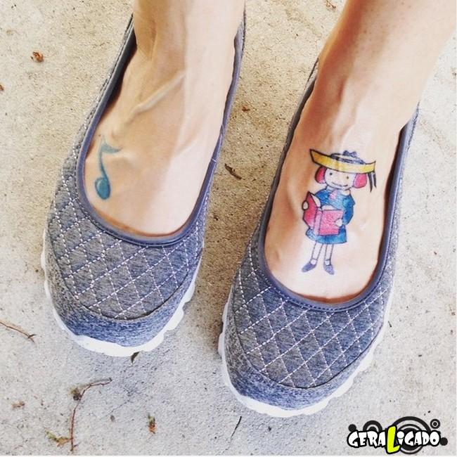 Tatuagens para fãs de livros10