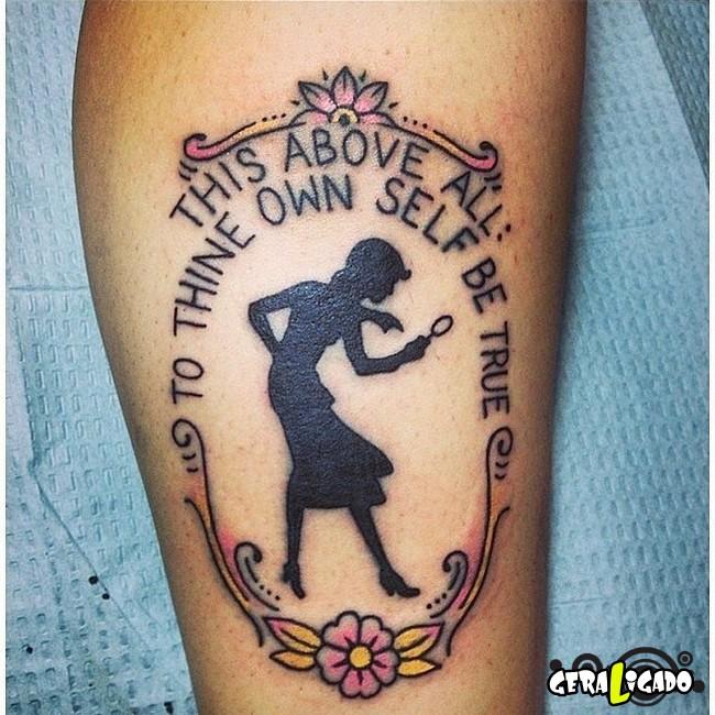 Tatuagens para fãs de livros12
