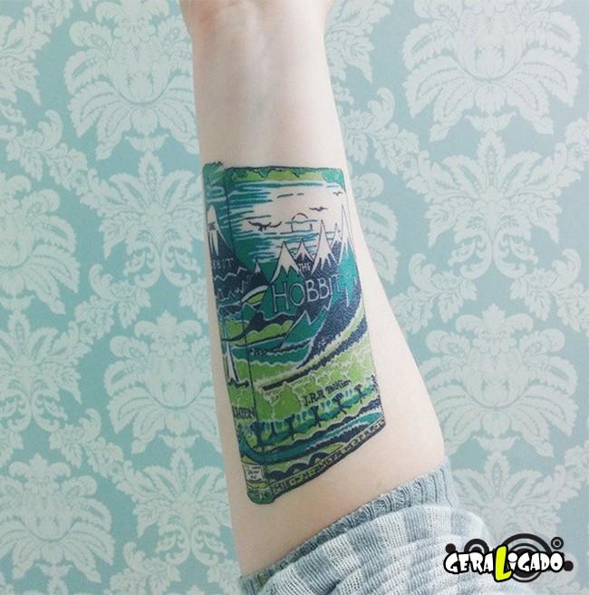 Tatuagens para fãs de livros2