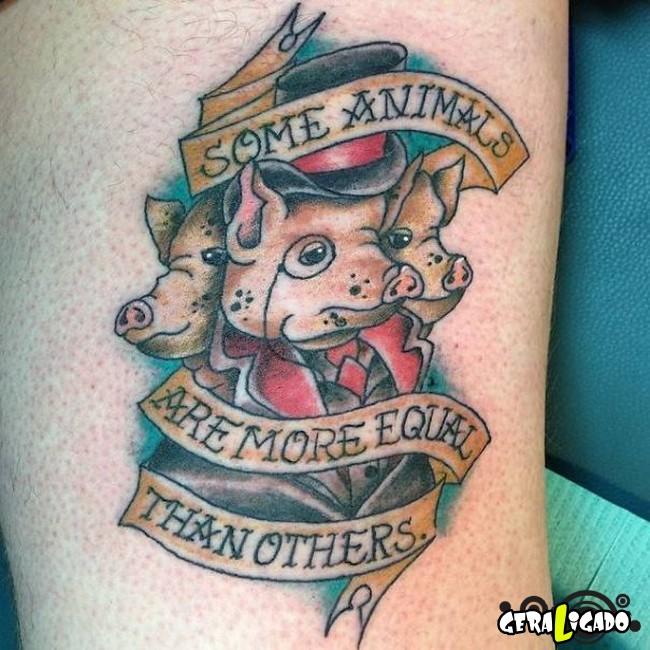 Tatuagens para fãs de livros30