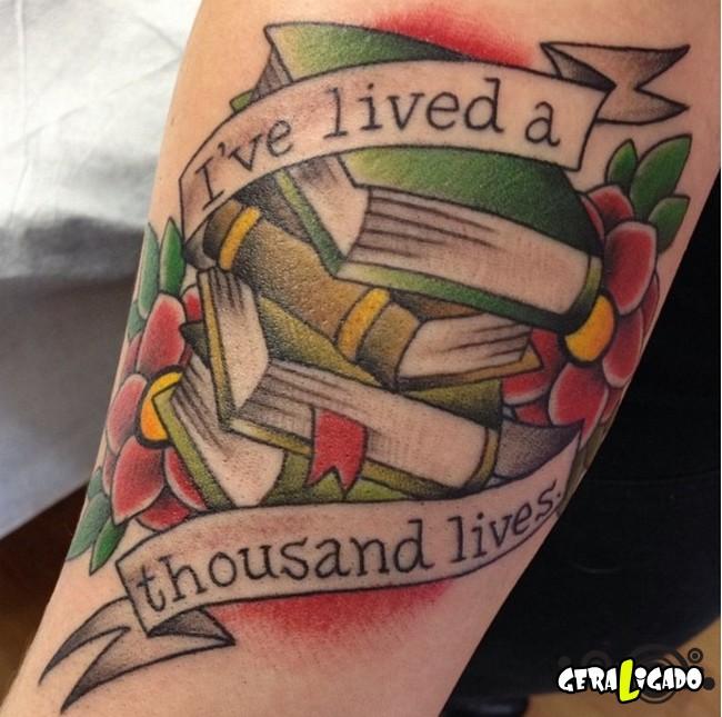 Tatuagens para fãs de livros7