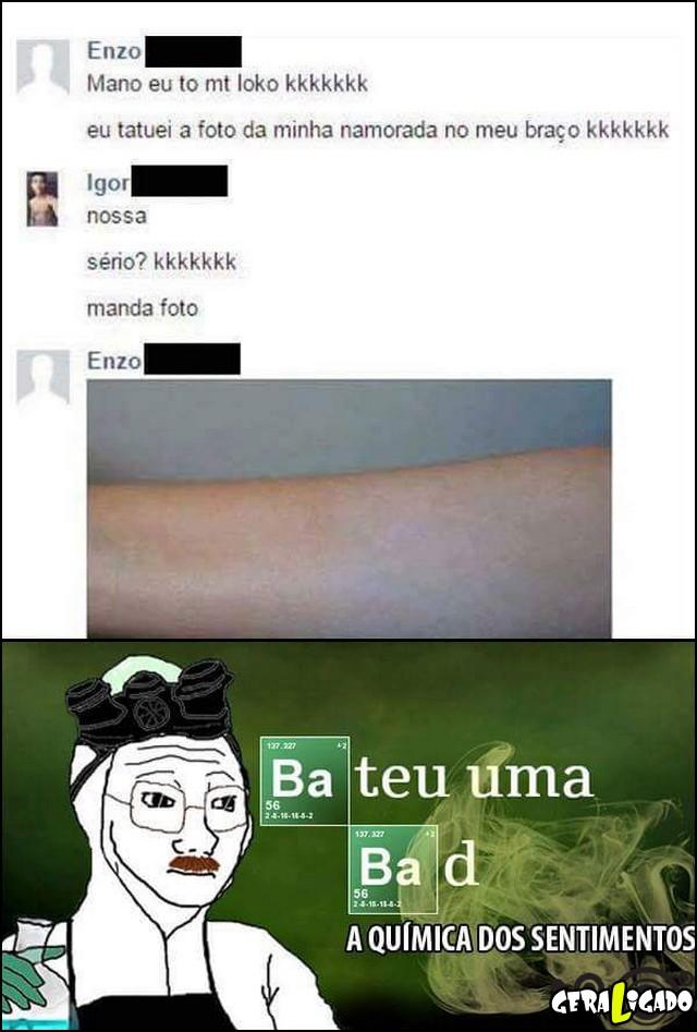 7 Tatuagem da namorada no braço