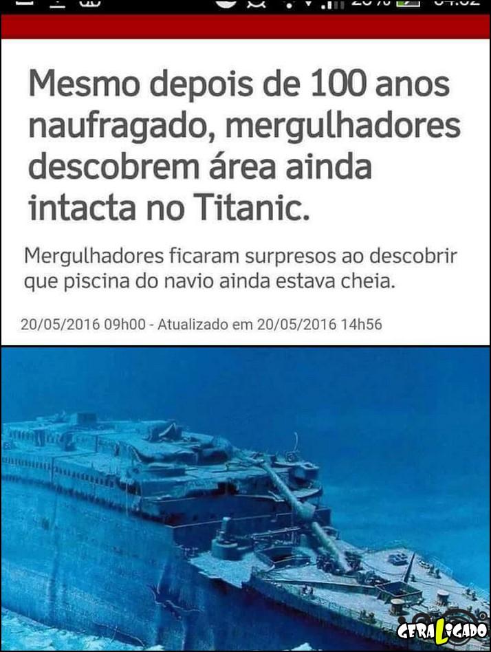 2 Mergulhadores descobrem area intacta no titanic