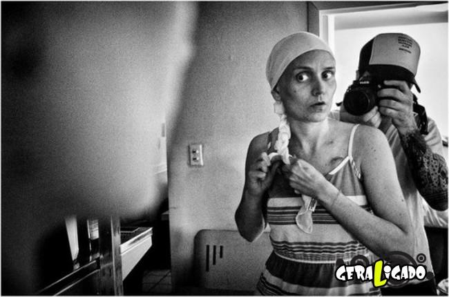 Marido fotografa a evolução do câncer em sua mulher até a morte. 8