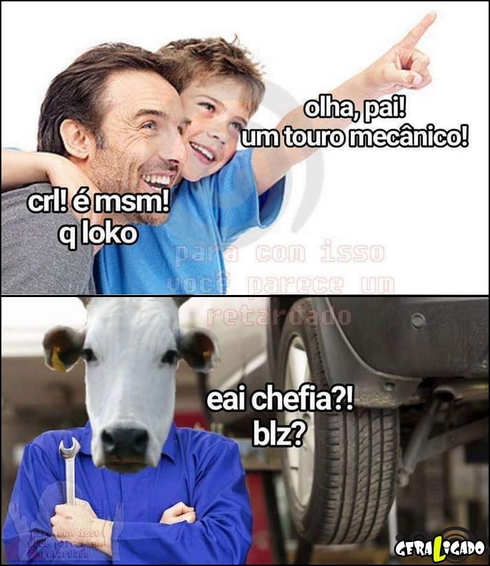 4 Olha, um touro mecanico!