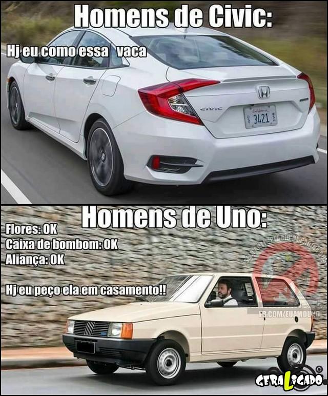 5 Entedenda a diferença dos carros