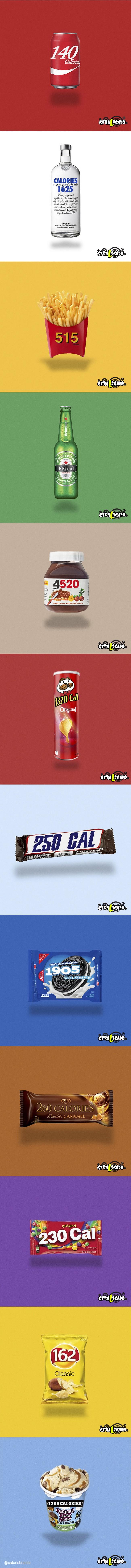 Como seria a logo de produtos famosos substituídas por suas calorias1