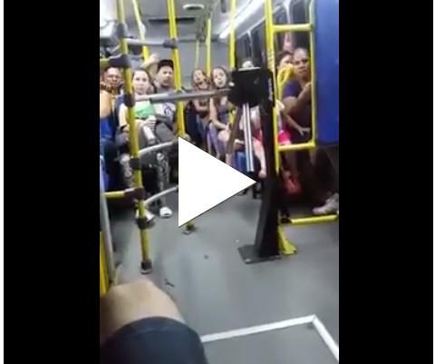 Povinho é bem curioso no ônibus