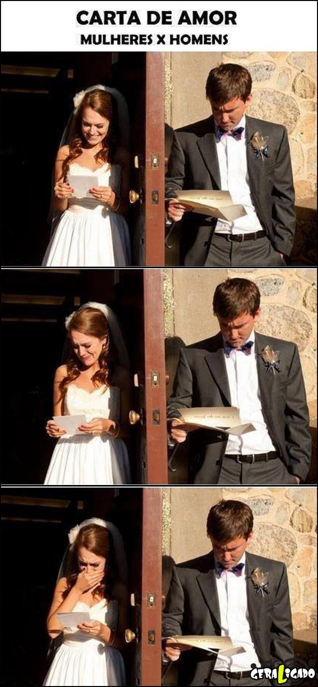 1 Reação quando recebe uma carta de amor