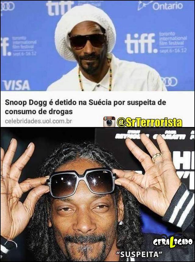 2 Snoop Dogg detido por suspeita de consumo de droga