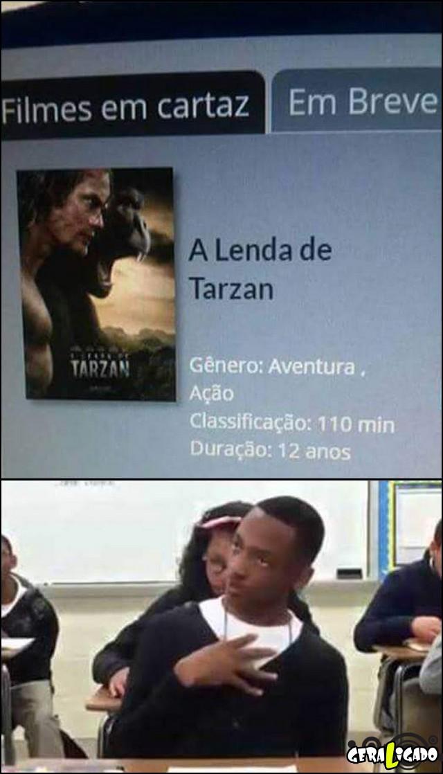 7 A duração do filme a lenda de tarzan