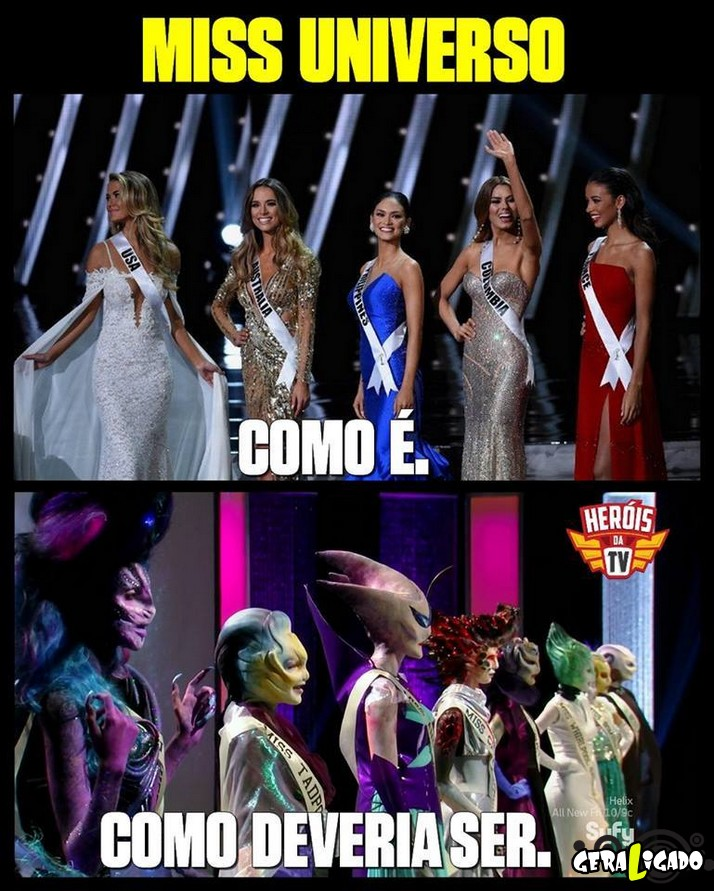 Como deveria ser Miss universo