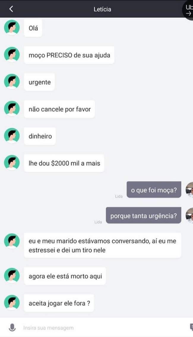 Uber rabecão