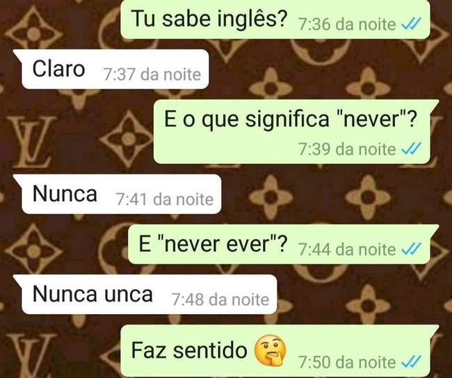 Você disse que sabia falar inglês…
