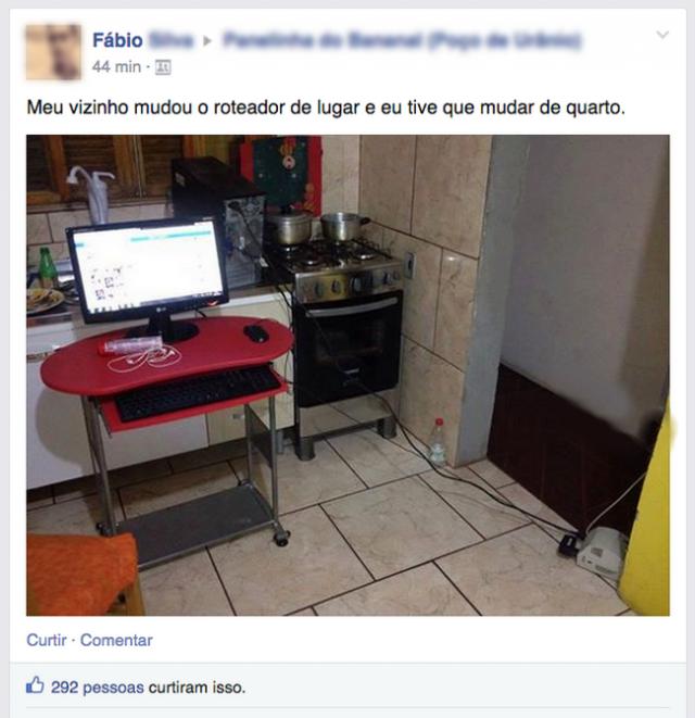 Não pode nem roubar a senha do Wi-Fi em paz..