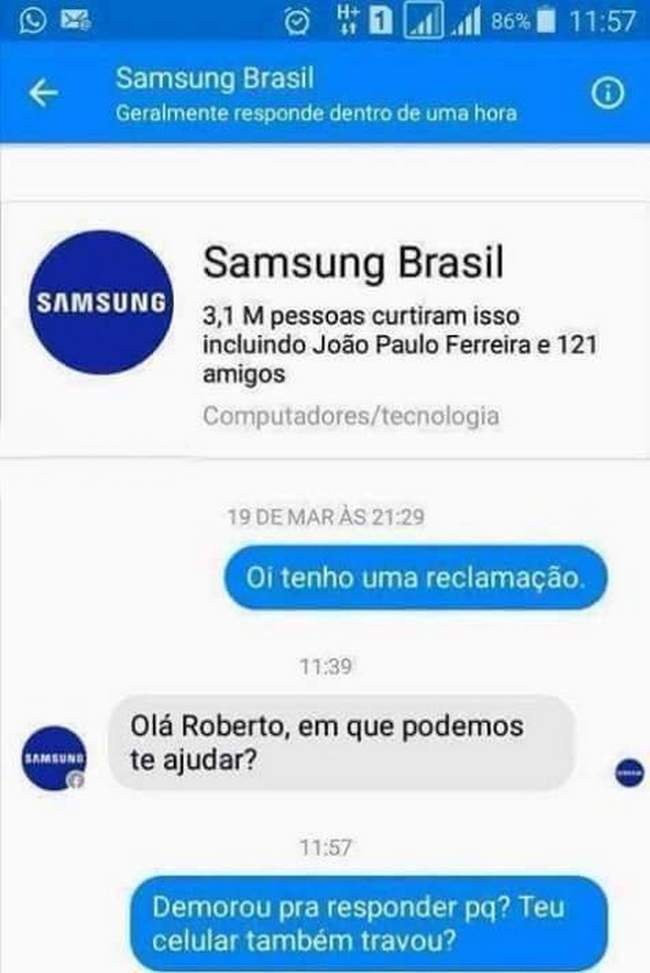 Samsung sendo tapeada