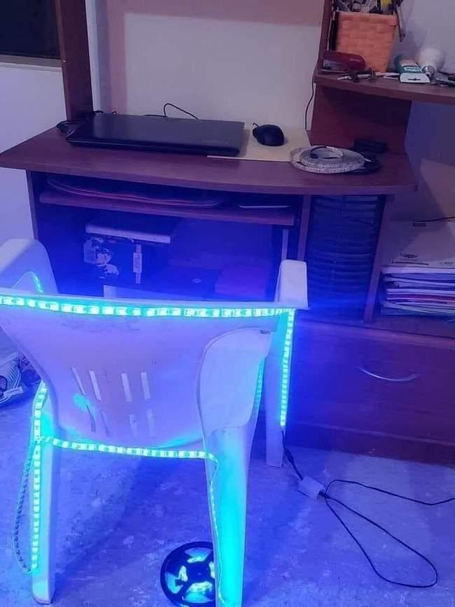 Minha cadeira gamer chegou.