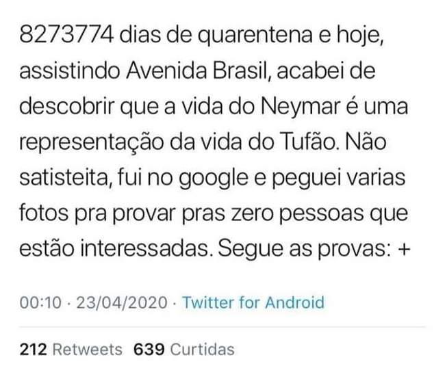 Neymar e Tufão são a mesma pessoa!