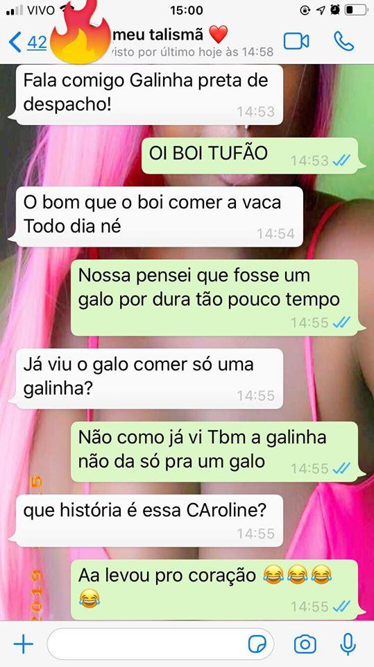 Que historia é essa Caroline