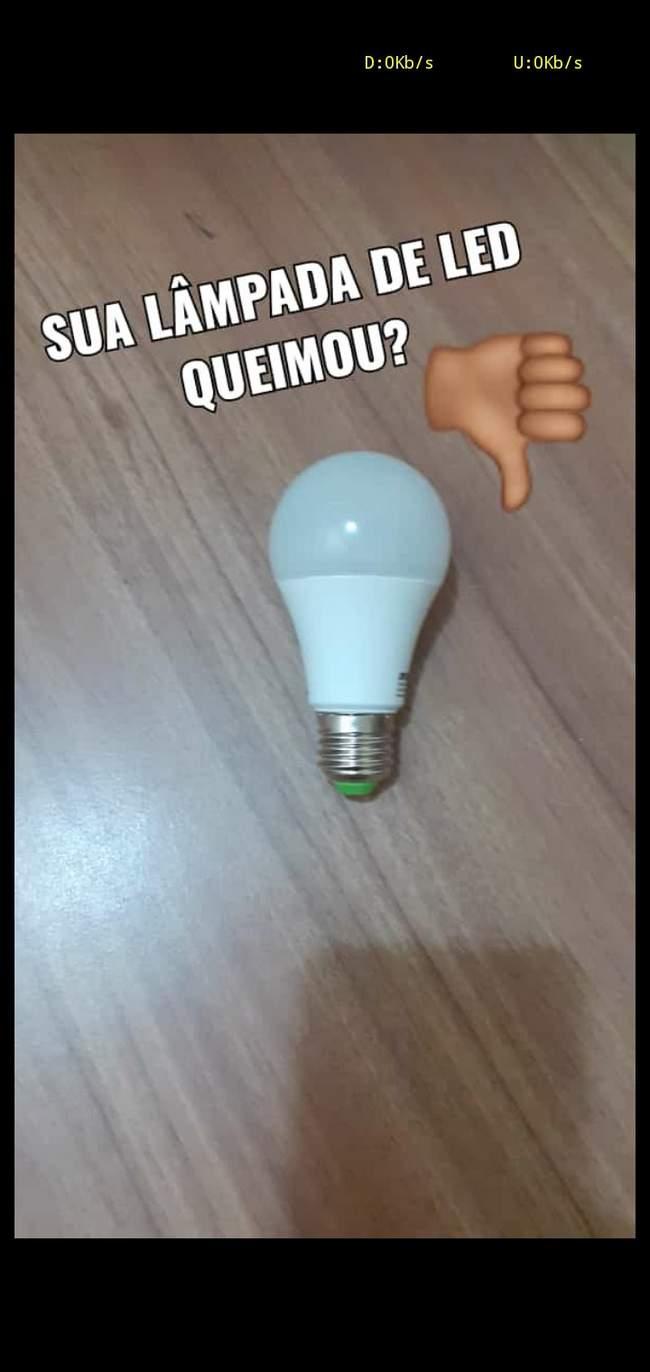Não jogue fora suas lâmpadas de led…