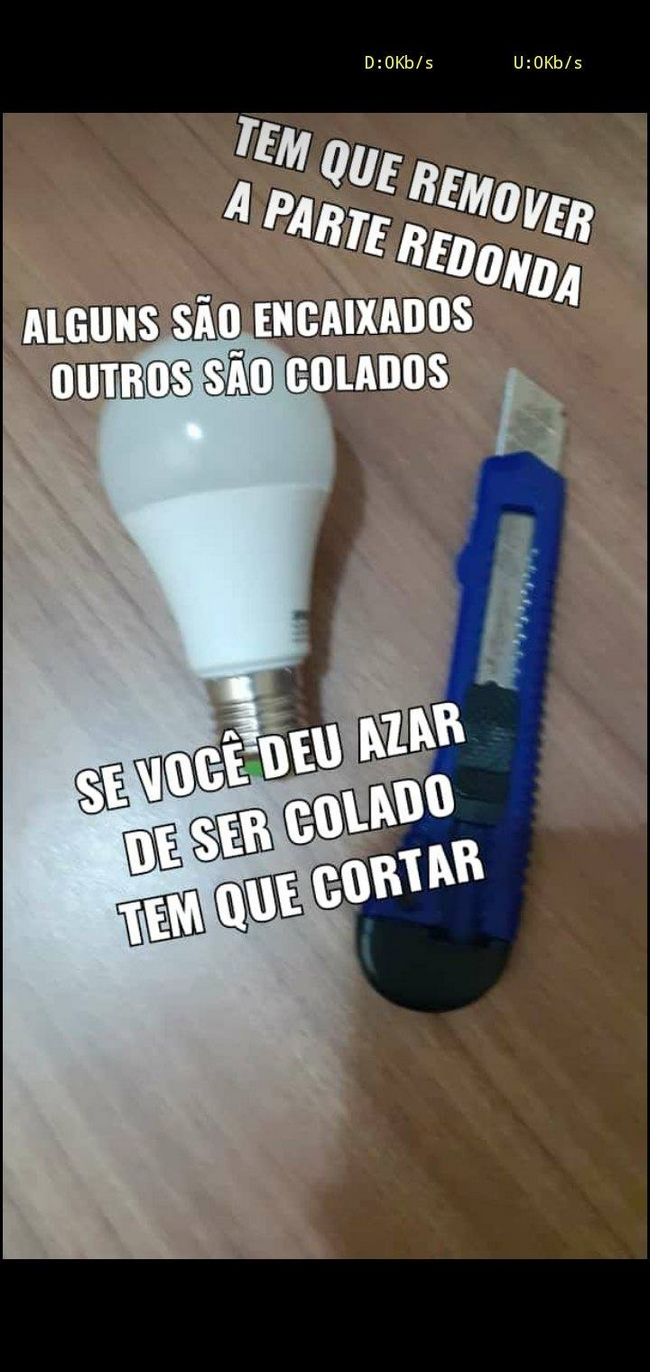 Não jogue fora suas lâmpadas de led…1