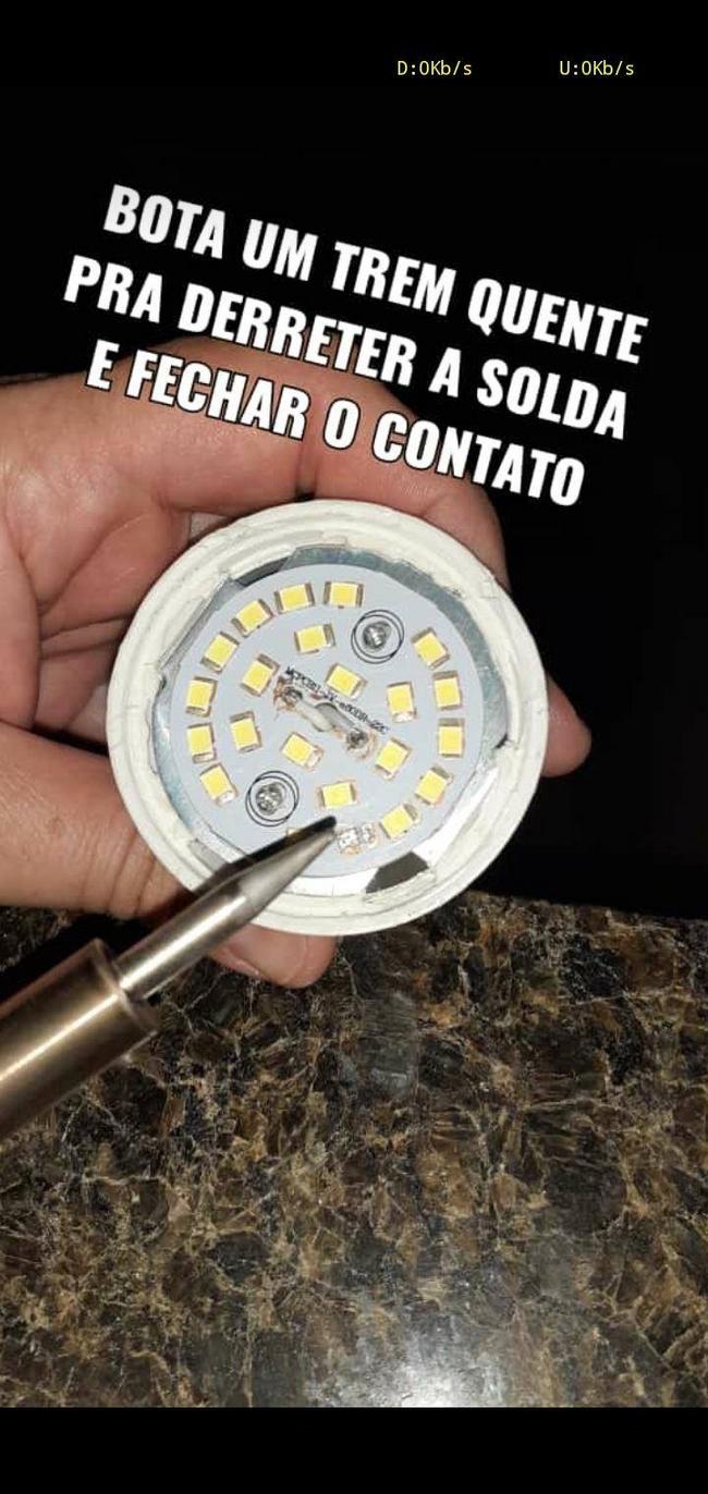 Não jogue fora suas lâmpadas de led…5