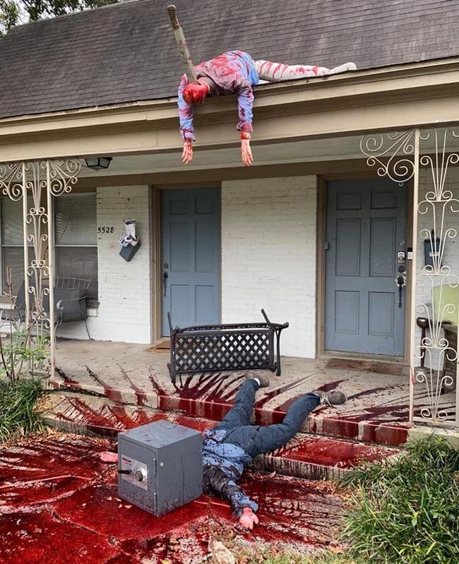 Uma dona de casa do Texas se empolgou com a decoração