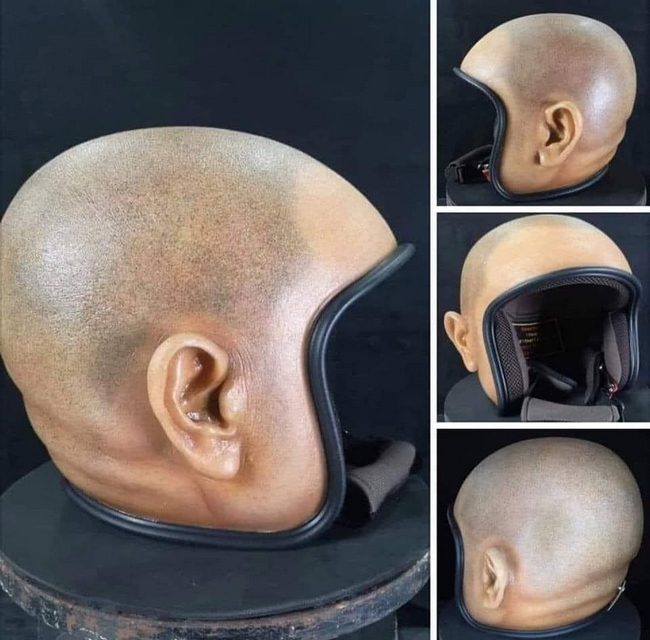 Achei tendencia esse capacete