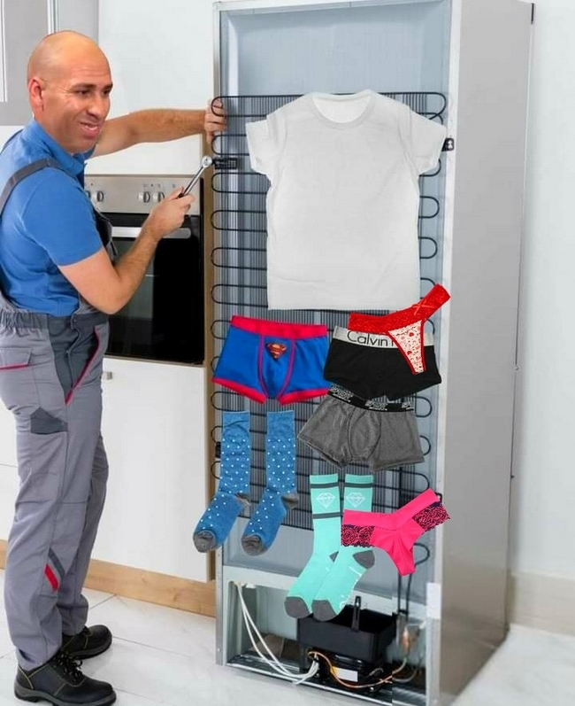 Tecnico indo arrumar geladeira de pobre