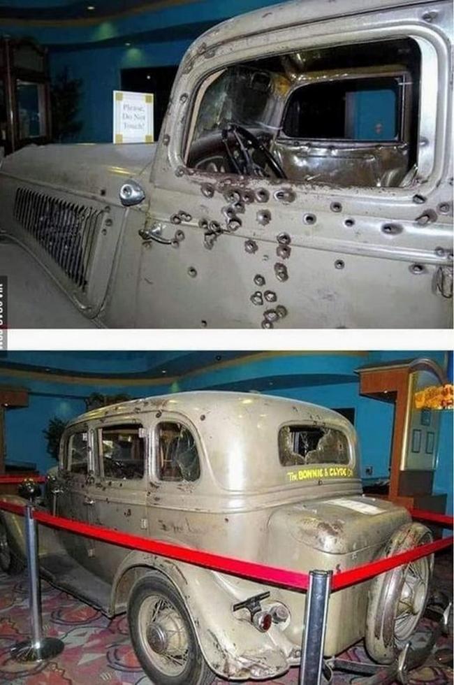 O carro da última viagem de Bonnie e Clyde
